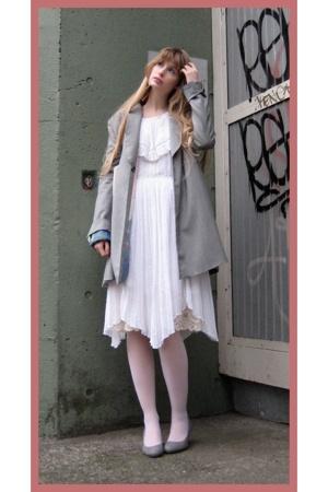 Mikio Sakabe jacket - vintage dress - Socks store in Harajuku stockings - on the