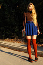 Carrot-orange-american-apparel-socks-blue-american-apparel-skirt