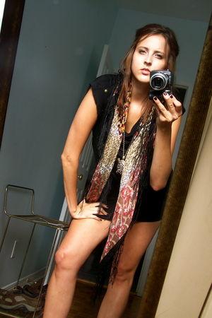 black Costa Blanca dress - brown H&M scarf