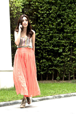 light orange chiffon pleated myChickPea pants