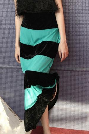 teal bohemian myChickPea skirt