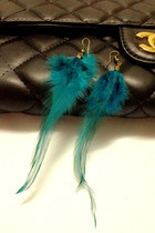 Turquoise-blue-feather-mychickpea-earrings