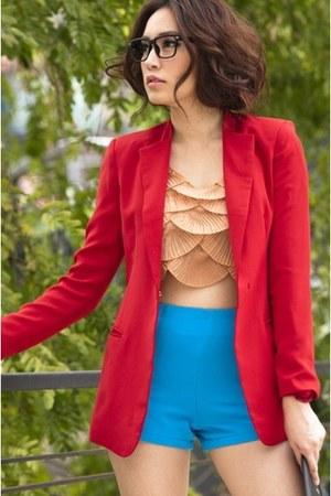 red classic chic myChickPea blazer