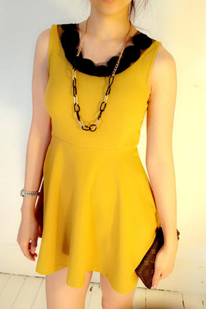 mustard mini dress myChickPea dress