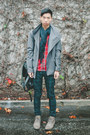 Olive-green-jimmy-ankle-swear-boots-silver-deepstyle-coat