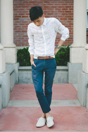 white matthew williamson x h&amp;m shirt - off white j shoes shoes