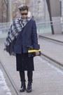 Black-leather-g-star-raw-boots-blue-blazer-acne-jacket