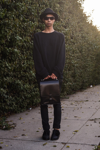 black oversized acne sweater