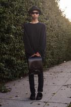 black oversized acne sweater