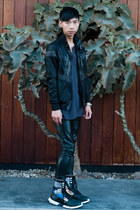 black Zara jacket - navy Rag and Bone shirt