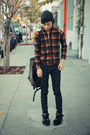 Plaid-uniqlo-jacket-mesh-31-phillip-lim-boots-studded-deepstyle-bag