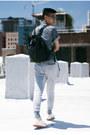 White-suede-walk-over-shoes-sky-blue-denim-shirt-matiere-shirt