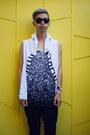 White-graphic-dope-shirt-black-triwa-sunglasses-white-tank-top-dope-top