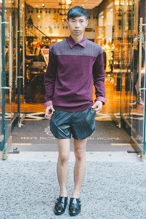 maroon ted baker sweater - black Eliran Nargassi shorts