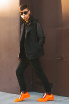black leather jacket Post Bellum jacket