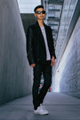 Black-cult-of-individuality-jeans-black-leather-post-bellum-jacket