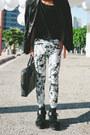 Black-balmain-blazer-black-mesh-31-phillip-lim-boots