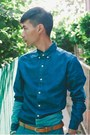 Blue-patchwork-denim-asos-shirt