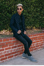 Suede-clarks-shoes-black-black-g-star-raw-jeans