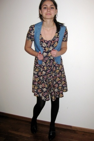 monkii vest - vintage dress