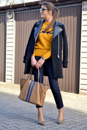 Zara coat - Zara sweater