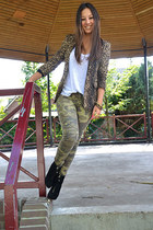 olive green Zara pants