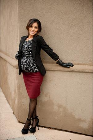 burgundy Love Culture skirt - Forever 21 blazer