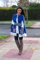 Stradivarius boots - trafaluc sweater - kling cape