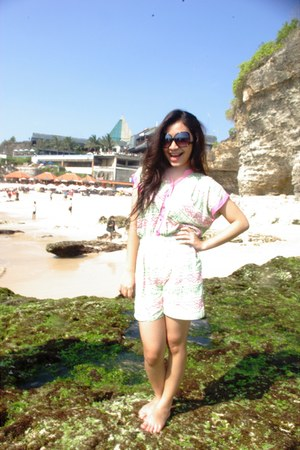 brown Zara glasses - aquamarine Roxy bodysuit