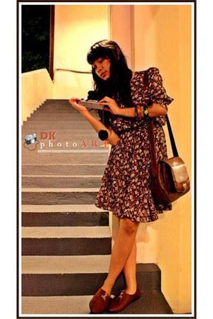 kuya gaya dress - SM bag - Matos flats - Naughty bracelet