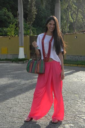 Zara blouse - Forever 21 bag - Zara pants - Zara flats