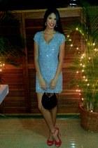 lentejuelas dress - steeve madden heels