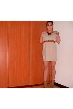 Zara boots - Bershka dress - H&M belt