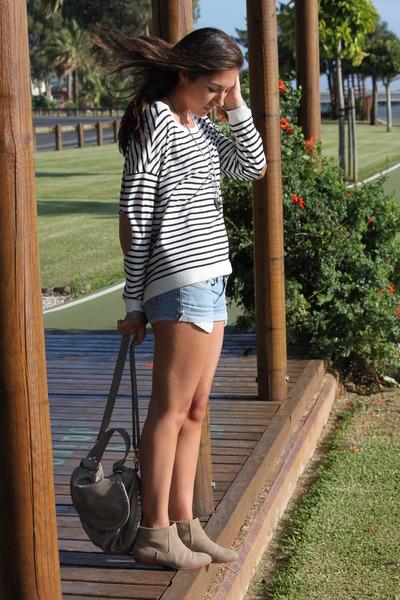 Bimba y Lola boots - Zara bag - DIY shorts - Zara jumper