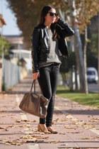 Forever 21 loafers - Stradivarius jeans - Stradivarius jacket - Zara sweater