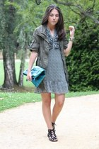 Stradivarius jacket - H&M dress - DIY bag - Marypaz sandals