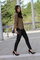 Mango shoes - Zara sweater - Stradivarius bag - pull&bear pants
