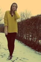 mustard Zara sweater