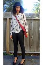 Fashion District in LA blouse - H&M hat - coach purse - Mossimo pants