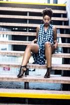black Forever 21 top - black Shoedazzle heels