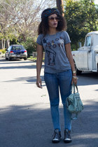 Chucks shoes - f21 jeans - Fred Seagal shirt - balenciaga purse
