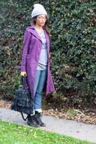 Melrose coat - Steve Madden boots - Kitson jeans - Wild Card shirt
