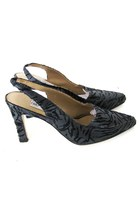 Vintage Zebra Print Ankle Strap Heels, sz 8