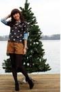 Black-vincent-camuto-boots-black-jcrew-sweater-light-blue-jcrew-shirt