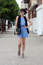 black Target bag - heather gray Nine West boots - pink AJ Morgan sunglasses