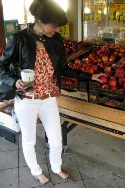 Paige jeans - Ali & Kris jacket - melie bianco bag - banana republic blouse