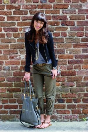 heather gray Erica Anenberg bag - black Forever 21 jacket