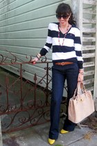 Polo Ralph Lauren sweater - navy JCrew jeans - neutral Reiss bag