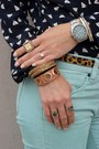 Bronze-jcrew-bag-light-blue-jcrew-pants-navy-jcrew-blouse