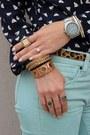 Bronze-jcrew-bag-light-blue-jcrew-pants-navy-jcrew-blouse